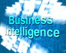 Business intelligence meaning know how and commerce Stock Illustration