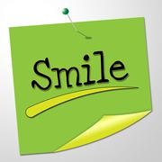 smile note meaning emotions positivity and optimism - stock illustration