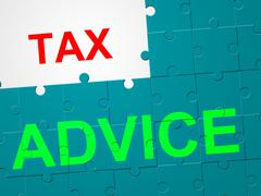Tax advice representing instructions levy and taxation Stock Illustration