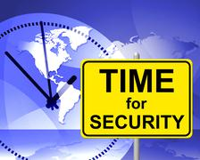 time for security meaning at the moment and now - stock illustration