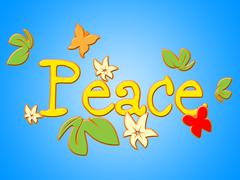 Peace message meaning love not war and communicate contact Stock Illustration