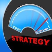Excellent strategy indicating excellency excellence and planning Stock Illustration
