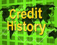 Credit history showing debit card and banking Piirros