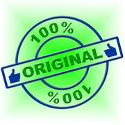 Stock Illustration of hundred percent original showing genuine article and legitimate