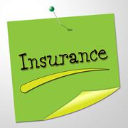 Stock Illustration of insurance message showing policy indemnity and contact