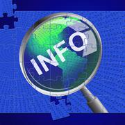 Info magnifier meaning search inform and support Stock Illustration