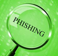 Phishing magnifier meaning security hacking and research Piirros