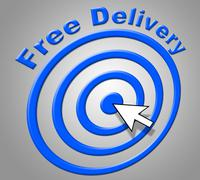 Stock Illustration of free delivery indicating with our compliments and gratis