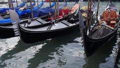 Stock Video Footage Venice gondolas Stock Footage