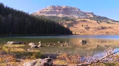 Beartooth lake yellowstone low angle Stock Footage