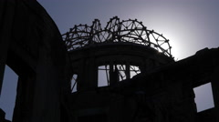 Hiroshima Atomic Bomb Dome Stock Footage