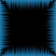 Waveform frame Stock Illustration