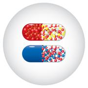 Medicine capsules - stock illustration