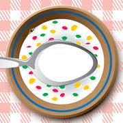 Frame as plate with cereal Stock Illustration