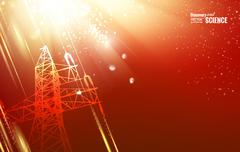 Electric tower. - stock illustration