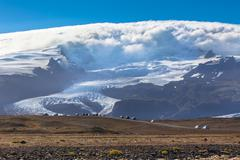 vatnajokull glacier national park, iceland - stock photo