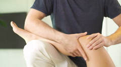 physiotherapy knee flexibility - stock footage