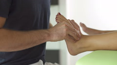 rehabilitation therapy of foot - stock footage