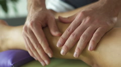 closeup massage of leg - stock footage