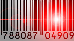 Barcode scanner Stock Footage