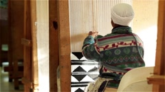 African woman weaving Stock Footage