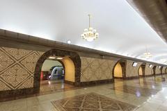 almaty subway station almali. almaty, kazakhstan - stock photo