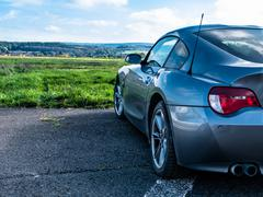 Outlook with Bmw - stock photo