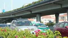 China National Highway 107 Shenzhen traffic landscape Stock Footage