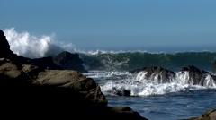 Northern California Coast with waves crashing Stock Footage