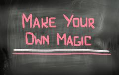 make your own magic concept - stock illustration