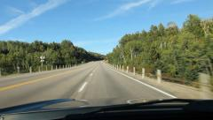 Lake Superior highway. Ontario, Canada. Stock Footage