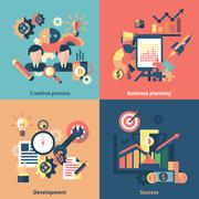 Stock Illustration of Creative icons set flat