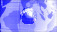 World map. Broadcast News-media topics. Loop able media background. Blue. Stock Footage