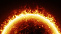Burning Sun Stock Footage
