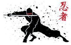 Ninja - stock illustration