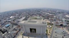 Aerial View from Temple of Solomon in São Paulo, Brazil Stock Footage