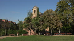 Barcelona Spain Parc de la Ciutadella Church 4K 065 Stock Footage