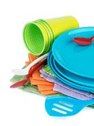picnic dishware - stock photo