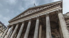 4k ultra hd Timelapse of bank of england - stock footage