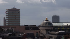 London Rooftop Piccadilly Criterion Dome Hot Day Stock Footage