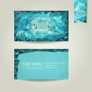 Abstract polygonal background for business card Stock Illustration