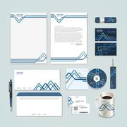 Abstract paper folded pattern background for corporate identity set Stock Illustration