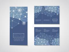 Soft geometric background design for tri-fold brochure Piirros