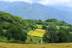 country landscape in lazio (italy) - stock photo