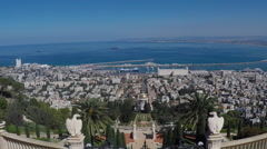 A beautiful picture of the Bahai Gardens in Haifa Israel. Stock Footage