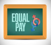 Equal pay message illustration design Stock Illustration