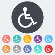 Disabled single icon. Stock Illustration