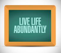 Stock Illustration of live life abundantly message illustration