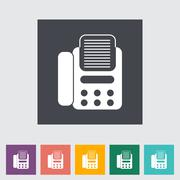 Stock Illustration of Fax flat icon.