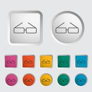 Stock Illustration of Glasses single icon.